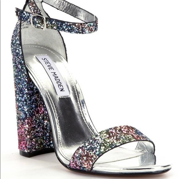 d52e494e74c Steve madden shoes carrson shimmer block heels sparkly poshmark jpg 580x580  Steve madden sparkle heels